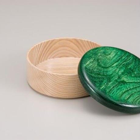 Colorful BOX 蓋グリーン/本体シャイン SJ-0115 お弁当にお料理の盛り込みに最適な木製のBOXです。