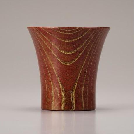Keyaki Cup レッド Gold SX-0585 本金を施した欅の漆塗カップです。氷がたっぷりはいります。