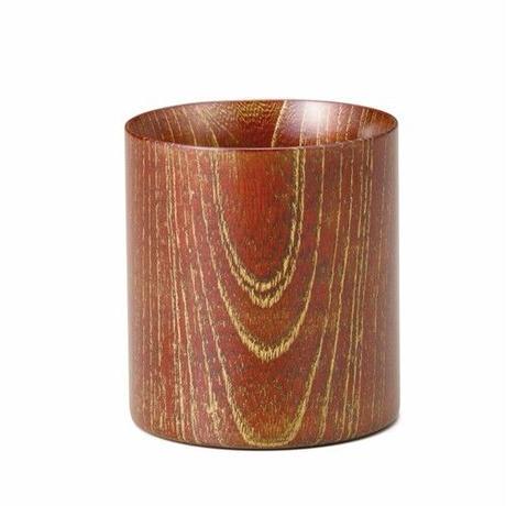 ゴールド(本金)を施した欅の漆塗マグカップです。 Keyaki Mug Cup レッド/Gold SX-0599