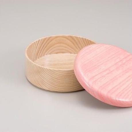 Colorful BOX 蓋ピンク/本体シャイン SJ-0117 お弁当にお料理の盛り込みに最適な木製のBOXです。
