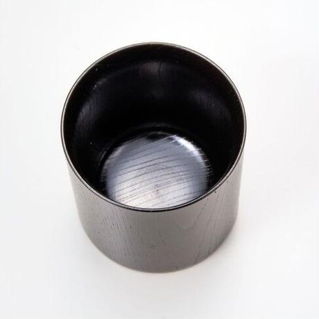 木目の美しい欅の漆塗マグカップです。 Keyaki Mug Cup ブラック SX-0595