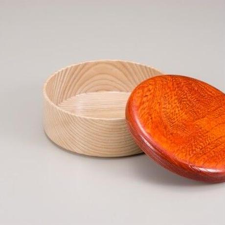 Colorful BOX 蓋オレンジ/本体シャイン SJ-0114 お弁当にお料理の盛り込みに最適な木製のBOXです。
