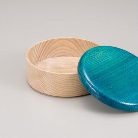 Colorful BOX 蓋ブルー/本体シャイン SJ-0111 お弁当にお料理の盛り込みに最適な木製のBOXです。