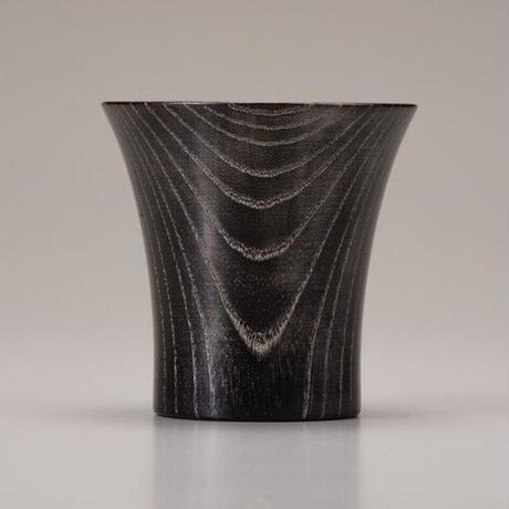 Keyaki Cup ブラック Platinum SX-0586 プラチナを施した欅の漆塗カップです。