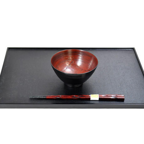 山中塗 嘉匠菴オリジナル商品 欅4.3飯椀 見付布根来 SO-0576