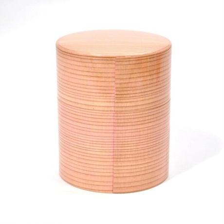 DD-2382 大館曲げわっぱ茶筒 Colorful ピンク 山中塗 嘉匠菴 プロトタイプ!現品のみの販売です。