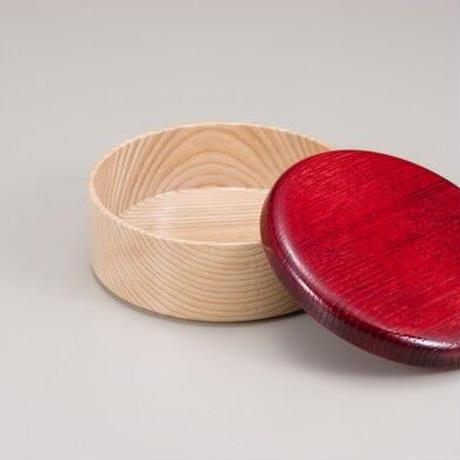 Colorful BOX 蓋レッド/本体シャイン SJ-0112 お弁当にお料理の盛り込みに最適な木製のBOXです。