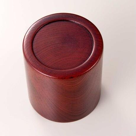木目の美しい欅の漆塗マグカップです。 Keyaki Mug Cup レッド SX-0594