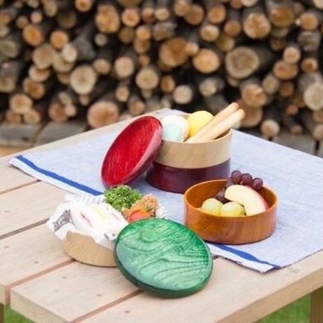 Colorful BOX 蓋ブラック/本体シャイン SJ-0118 お弁当にお料理の盛り込みに最適な木製のBOXです。
