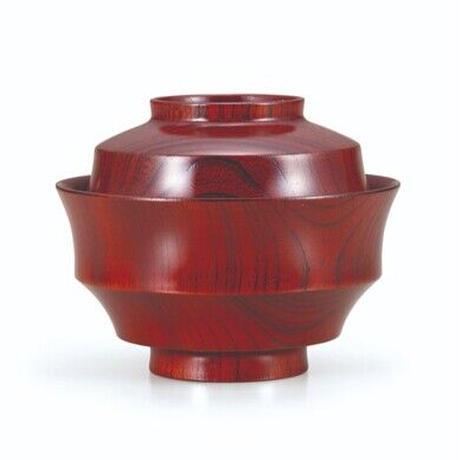 欅4.3駒形煮物椀 赤摺  欅の木目の美しい煮物椀です。SO-0537