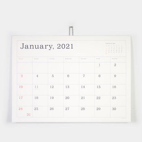 "ANDO GALLERY(アンドーギャラリー)""葛西薫カレンダー 2021(罫線あり)"""