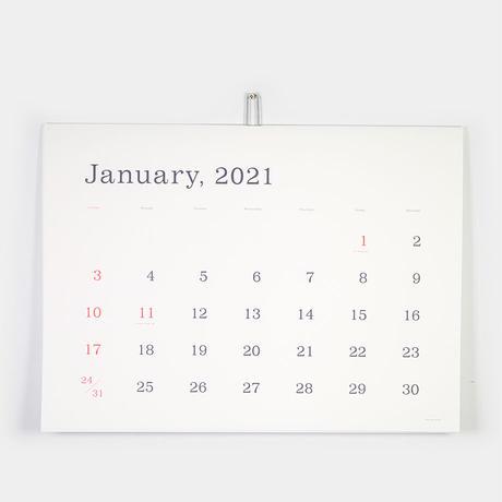 "ANDO GALLERY(アンドーギャラリー)""葛西薫カレンダー 2021(罫線なし)"""