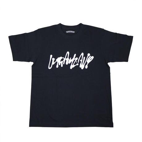 "ULTRA HEAVY(ウルトラヘビー)""Tシャツ 神山隆二 筆文字 BLACK(M、L)"""