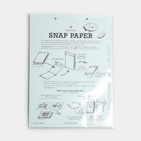 "POSTALCO(ポスタルコ)""Snap Paper Refill 55sheets / スナップペーパーリフィル(A4)"""