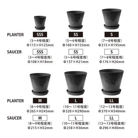"""amabro(アマブロ)""""ART STONE PLANTER  L 10号(BK,BR,GY,NV)"""""""