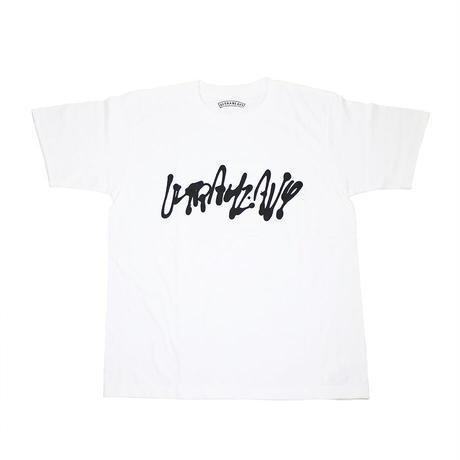 "ULTRA HEAVY(ウルトラヘビー)""Tシャツ 神山隆二 筆文字 WHITE(M)"""