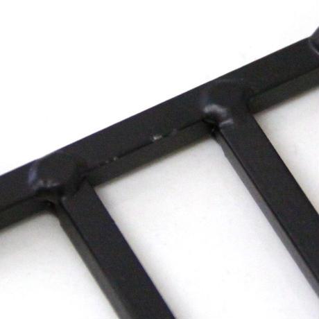 棚付きアイアントイレットペーパーホルダー(Black)