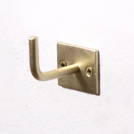 """千葉工作所""""Brass Hook - Square / ブラスフック(スクエア)"""""""