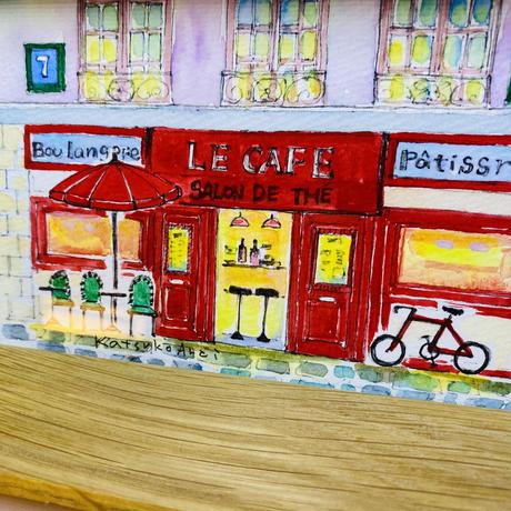 赤いカフェ