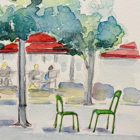 チュイルリー公園 椅子の風景