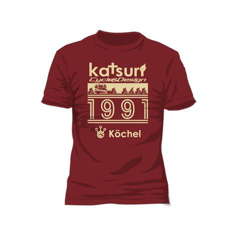 Racing scene T-shirt Burgundy