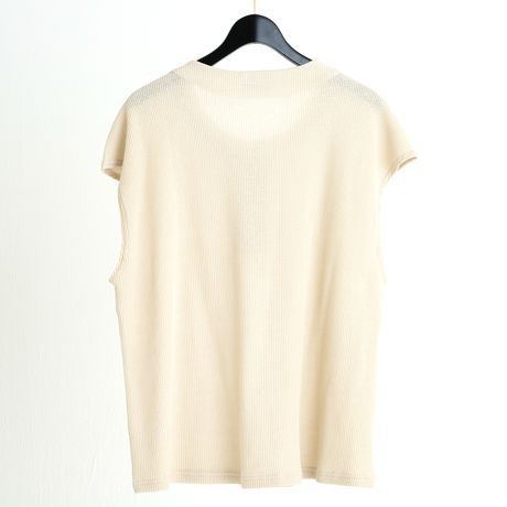 FRENCH SLEEVE HENLEY NECK TEE(OATMEAL)