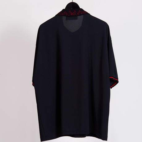FIRE EMBROIDERY FOOTBALL SHIRTS(BLACK)