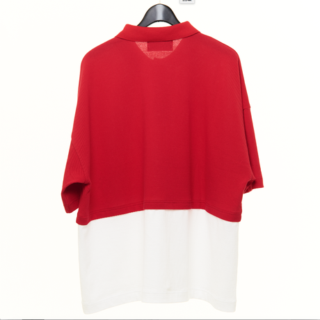 LAYERED BIG POLO SHIRTS(RED)