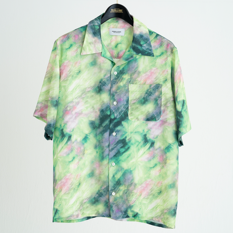 HALLUCINATION FLOWER OPEN COLLAR SHIRTS