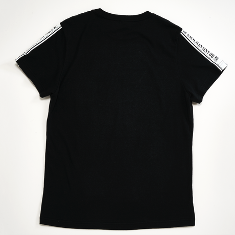 LINE SLEEVE LOGO BIG TEE (BLACK)
