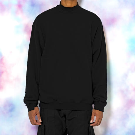 DAMAGE CREW SWEAT(BLACK)