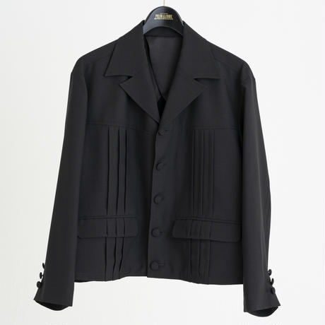 PIN TUCK LIGHT JACKET (CHARCOAL)