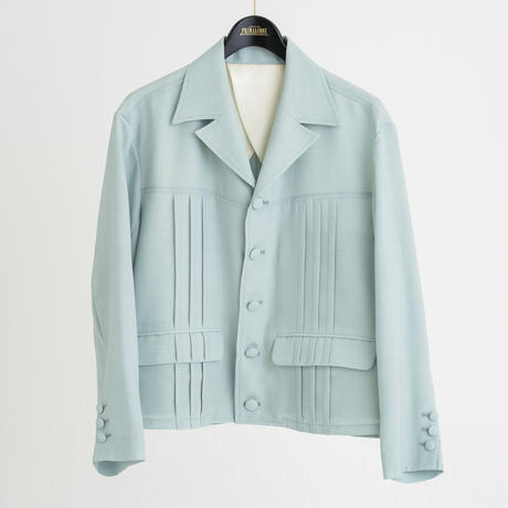 PIN TUCK LIGHT JACKET (PISTACHIO GREEN)