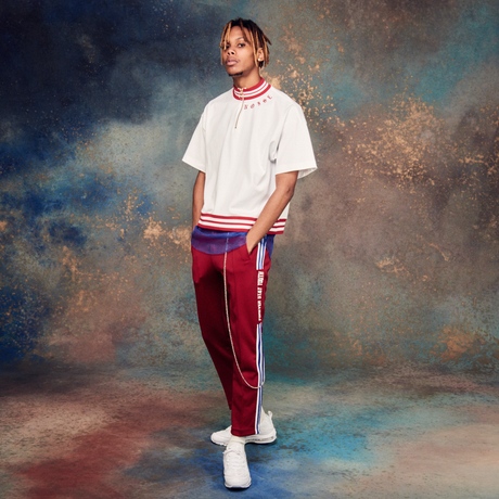 FOREVER STAY YOUTH TRACK PANTS (RED)