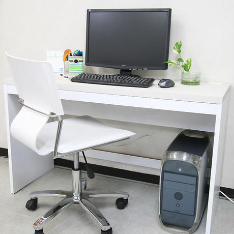 【激安/ネット最安値】薄型パソコンデスク ハイタイプ 幅120×奥行45 ホワイト