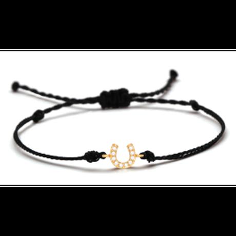 Horseshoe  Bracelet  White Cubic Zirconia Crystal