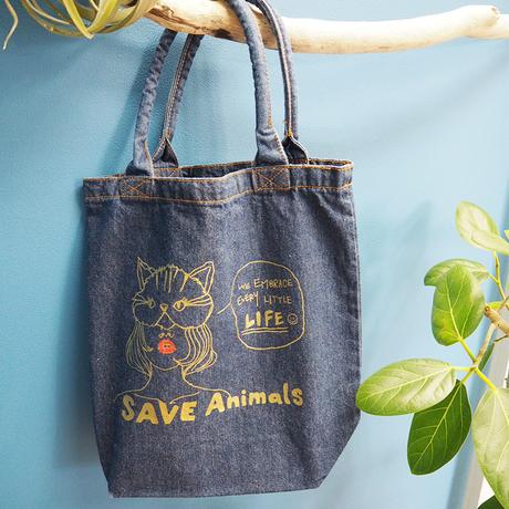Dennim Bag/宮古島SAVE THE ANIMALS チャリティGoods