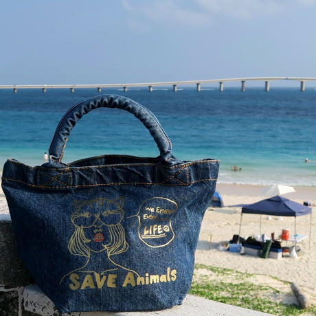mini Dennim Bag/宮古島SAVE THE ANIMALS チャリティGoods