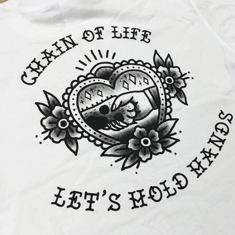 Donation T-shirt/Tatoo art-Chain of Life- Black XLのみ