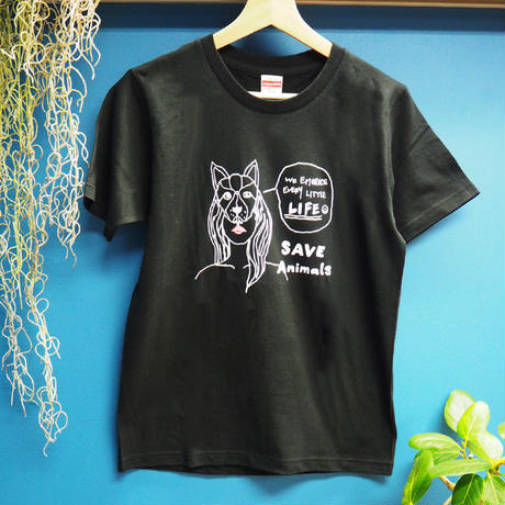 T-shirt/宮古島SAVE THE ANIMALS チャリティGoods  Dog/Black&White