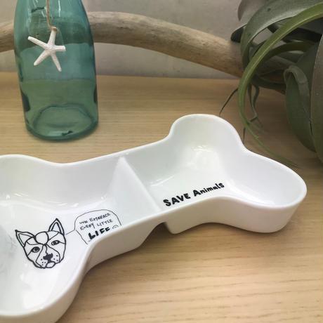 ボーン型Bowl/宮古島SAVE THE ANIMALS チャリティGoods