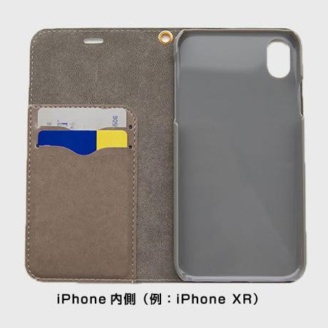 水玉NEETの手帳型スマホケース (大きいサイズ用)