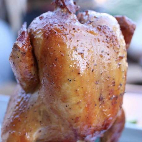 ビアカンチキン用丸鶏 ガーリックオイル(1羽)