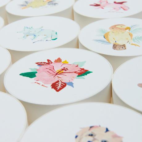 Blooming Flower Handkerchief Gift -Pink Cat-