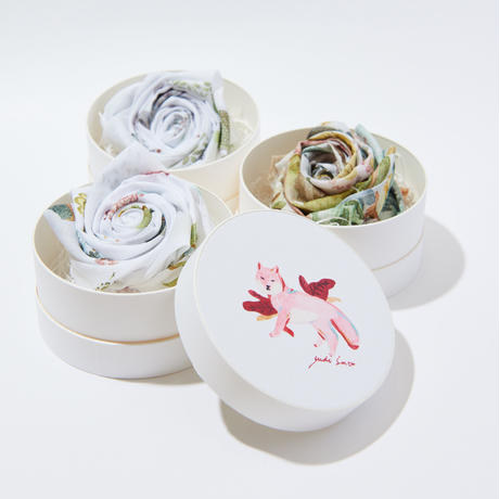 Blooming Hnadkerchief Gift  -Fox-