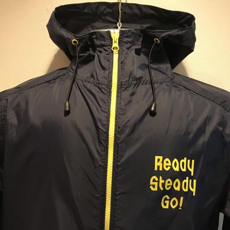 JK001-1  ナイロンフーデッドジャケット NAVY/YELLOW