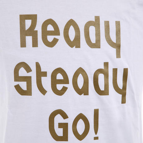 LT001--2 ロゴTシャツ WHITE/MATT GOLD from UK