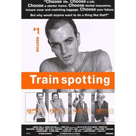 """RP-015 『トレインスポッティング』""""Train spotting""""/映画ポスターアメリカ版リプリント/1996"""