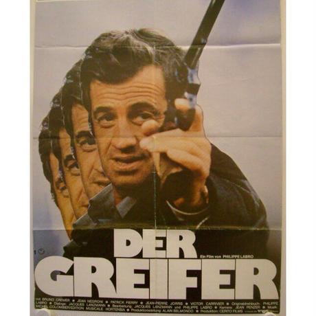 "OP-069「危険を買う男」""L'ALPAGUER""映画ポスター/ドイツ版オリジナル/1976"