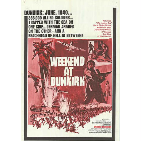 "OP-054「ダンケルク」""Weekend at Dunkirk "" 映画ポスター/アメリカ版オリジナル/1964"